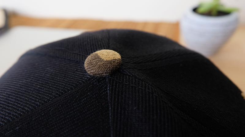 กระดุมหมวก หมวกฮิปฮอป ลายพราง ลายทหาร สีดำ