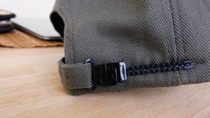 หมวแก๊ปผ้าพีช หางหมวก รางเลื่อนพลาสติก