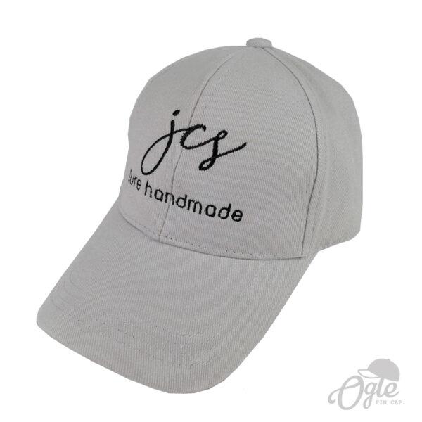 ปักหมวกพรีเมี่ยม หมวกแก๊ปผ้าพีช โลโก้ JCS Lure Handmade