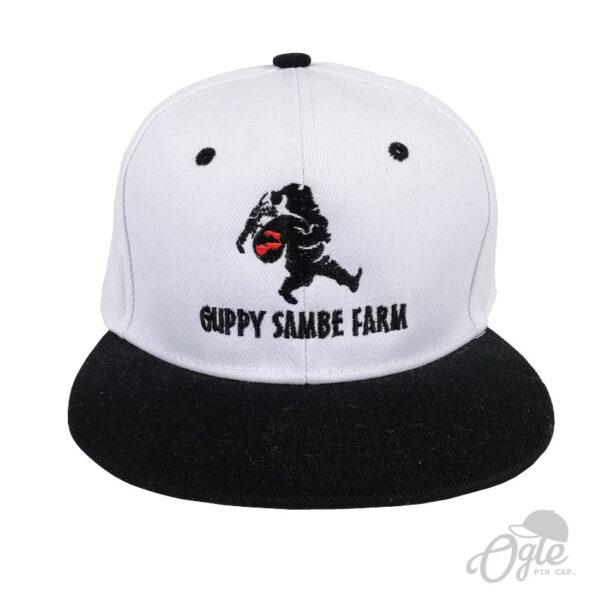 โรงงานปักหมวก หมวกฮิปฮอบ โลโก้ Guppy Sambe Farm