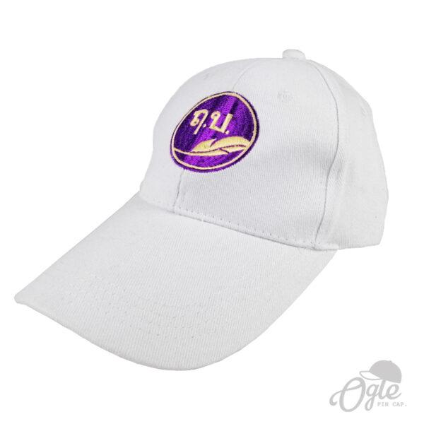 ปักหมวกพรีเมี่ยม หมวกแก๊ปผ้าพีช โลโก้ โรงเรียนฤกษบุตร์
