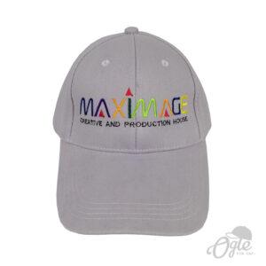 ปักหมวก หมวกพรีเมี่ยม หมวกแก๊ปผ้าพีช หมวกปักโลโก้ MAXIMAGE