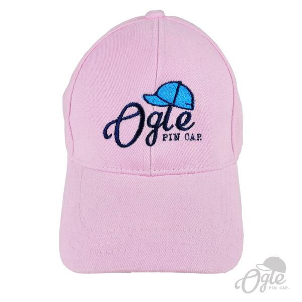 ปักหมวกพรีเมี่ยม หมวกแก๊ปผ้าพีช โลโก้ Oglepincap