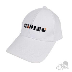 ปักหมวก หมวกพรีเมี่ยม หมวกแก๊ปผ้าพีช หมวกปักโลโก้ PTT Trading
