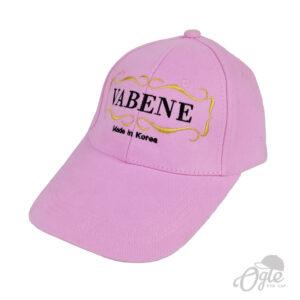 ปักหมวกพรีเมี่ยม หมวกแก๊ปผ้าพีช ปักโลโก้ vabene