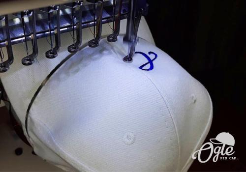 กำหนดตำแหน่ง หมวกปัก ก่อน ปักหมวก