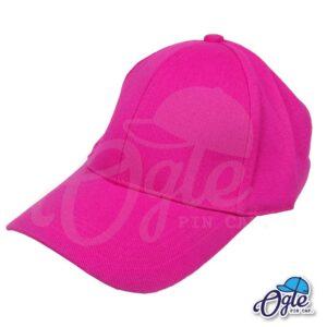 หมวกผ้าพีช-สีชมพู-ด้านข้าง
