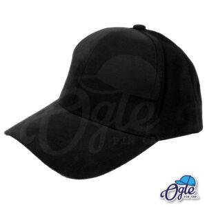 หมวกผ้าพีช-สีดำ-ด้านข้าง