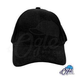 หมวกผ้าพีช-สีดำ-ด้านหน้า