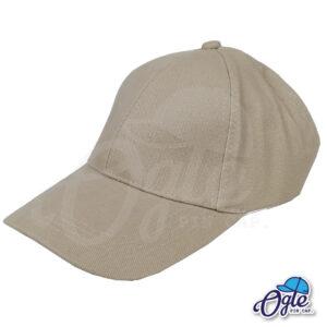หมวกผ้าพีช-สีน้ำตาล-ด้านข้าง