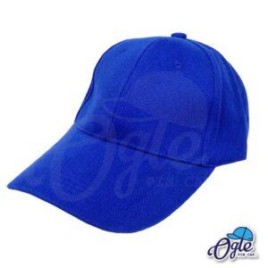 หมวกผ้าพีช-สีน้ำเงิน-ด้านข้าง