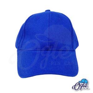 หมวกผ้าพีช-สีน้ำเงิน-ด้านหน้า