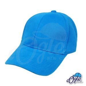 หมวกผ้าพีช-สีฟ้า-ด้านข้าง