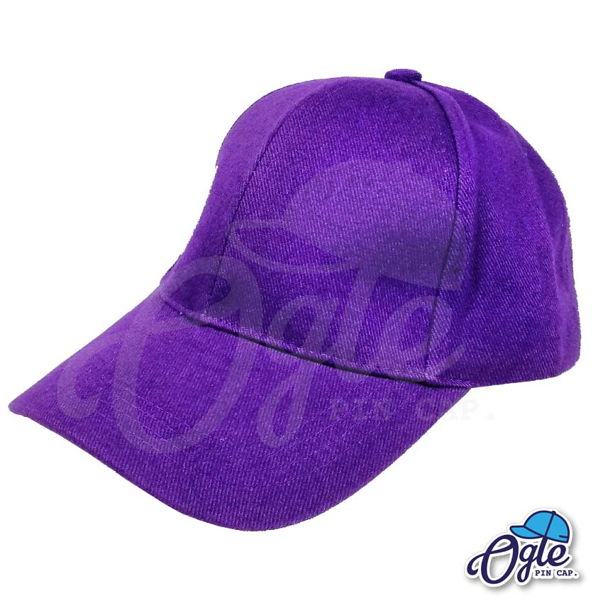 หมวกผ้าพีช-สีม่วง-ด้านข้าง