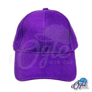 หมวกผ้าพีช-สีม่วง-ด้านหน้า
