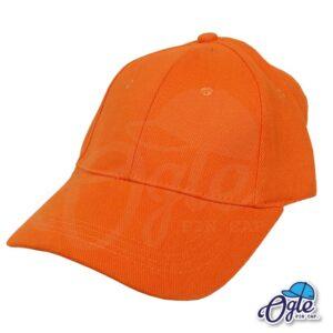 หมวกผ้าพีช-สีส้ม-ด้านข้าง