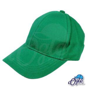หมวกผ้าพีช-สีเขียว-ด้านข้าง