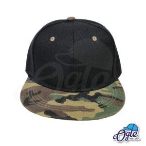 หมวกฮิปฮอป-ลายทหาร-ด้านหน้า