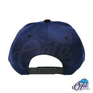 หมวกฮิปฮอป-สีกรม-ปีกหมวกสีดำ-ด้านหลัง