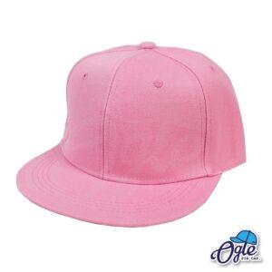 หมวกฮิปฮอป-สีชมพูอ่อน-ด้านข้าง