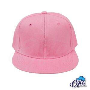 หมวกฮิปฮอป-สีชมพูอ่อน-ด้านหน้า