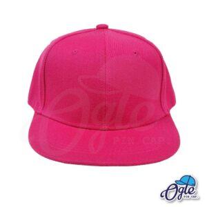 หมวกฮิปฮอป-สีชมพู-ด้านหน้า