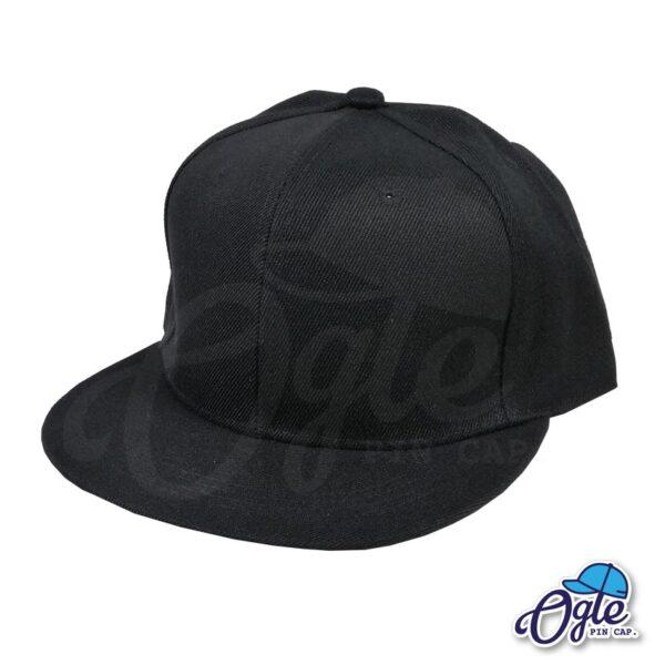 หมวกฮิปฮอป-สีดำ-ด้านข้าง