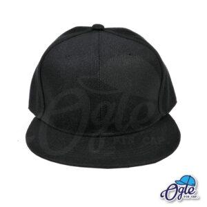 หมวกฮิปฮอป-สีดำ-ด้านหน้า