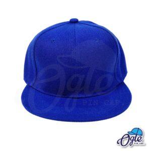 หมวกฮิปฮอป-สีน้ำเงิน-ด้านหน้า
