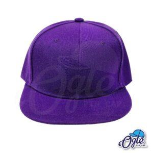 หมวกฮิปฮอป-สีม่วง-ด้านหน้า
