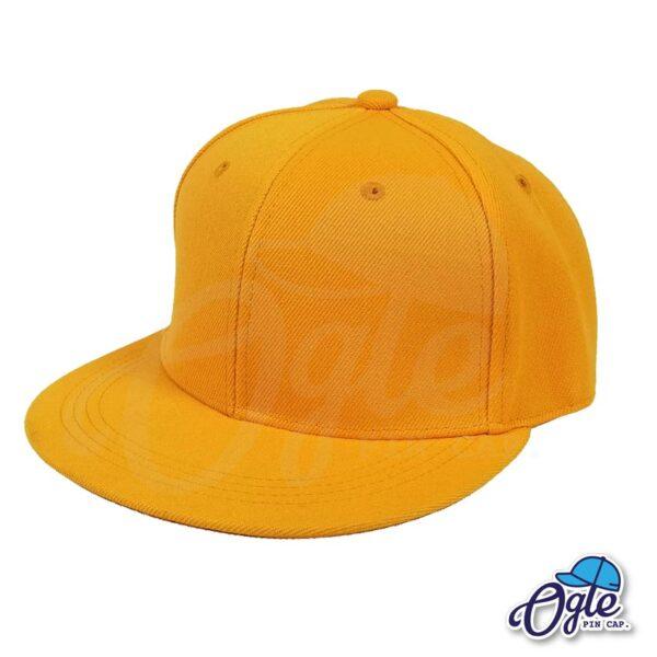 หมวกฮิปฮอป-สีส้มอ่อน-ด้านข้าง