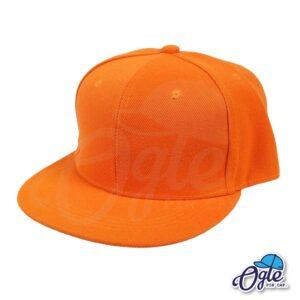 หมวกฮิปฮอป-สีส้ม-ด้านข้าง