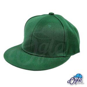 หมวกฮิปฮอป-สีเขียวเข้ม-ด้านข้าง