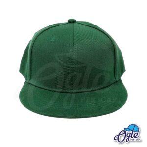 หมวกฮิปฮอป-สีเขียวเข้ม-ด้านหน้า