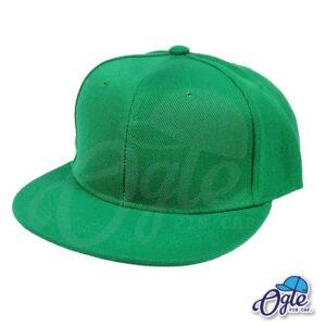 หมวกฮิปฮอป-สีเขียว-ด้านข้าง