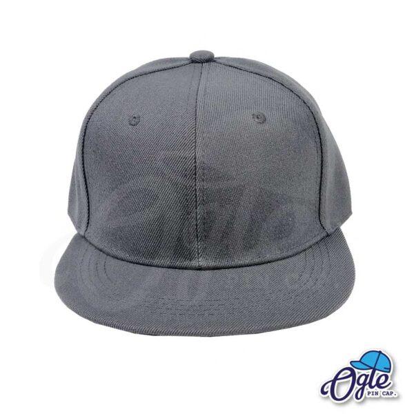 หมวกฮิปฮอป-สีเทา-ด้านหน้า
