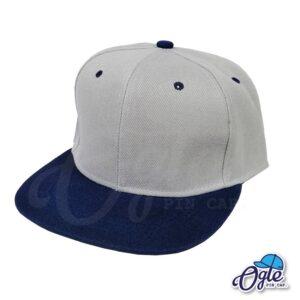 หมวกฮิปฮอป-สีเทา-ปีกหมวกสีกรม-ด้านข้าง