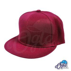 หมวกฮิปฮอป-สีเลือดหมู-ด้านข้าง