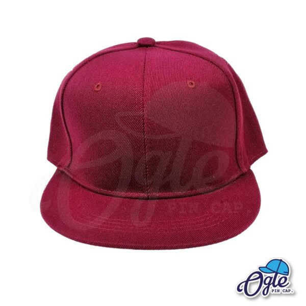 หมวกฮิปฮอป-สีเลือดหมู-ด้านหน้า