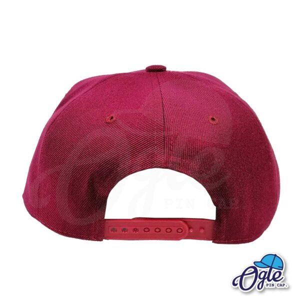 หมวกฮิปฮอป-สีเลือดหมู-ด้านหลัง