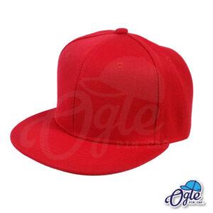 หมวกฮิปฮอป-สีแดง-ด้านข้าง