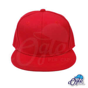 หมวกฮิปฮอป-สีแดง-ด้านหน้า