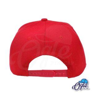 หมวกฮิปฮอป-สีแดง-ด้านหลัง