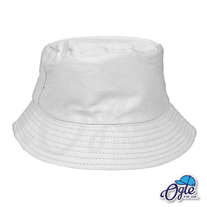 หมวกบักเก็ต สีขาว สีพื้น หมวกเปล่า ราคาส่ง