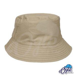 หมวกบักเก็ต สีน้ำตาลอ่อน สีพื้น หมวกเปล่า ราคาส่ง