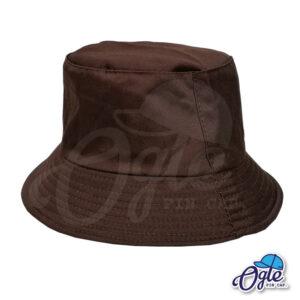 หมวกบักเก็ต สีน้ำตาล สีพื้น หมวกเปล่า ราคาส่ง