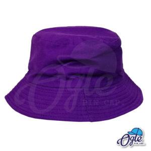 หมวกบักเก็ต สีม่วง สีพื้น หมวกเปล่า ราคาส่ง