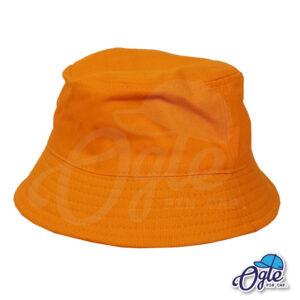 หมวกบักเก็ต สีส้ม สีพื้น หมวกเปล่า ราคาส่ง