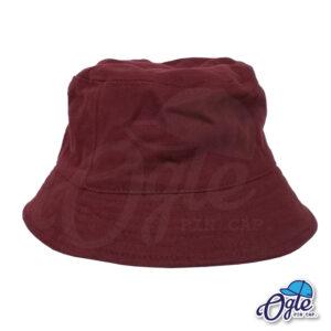 หมวกบักเก็ต สีเลือดหมู สีพื้น หมวกเปล่า ราคาส่ง