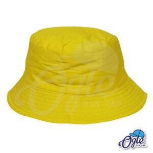 หมวกบักเก็ต สีเหลือง สีพื้น หมวกเปล่า ราคาส่ง